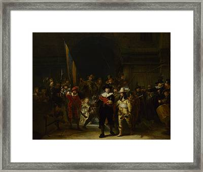 The Company Of Captain Banning Cocq The Nightwatch Framed Print