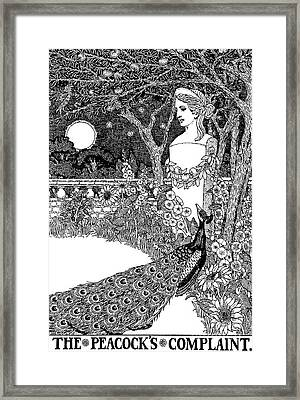 The Complaint Of The Peacock Scene From Aesop's Fables Framed Print