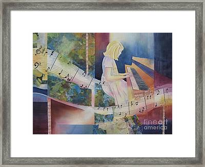 The Composition Framed Print