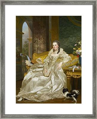 The Comtesse D'egmont Pignatelli In Spanish Costume Framed Print by Alexander Roslin