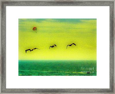 The Concept Of Flying Framed Print by Jeff Breiman