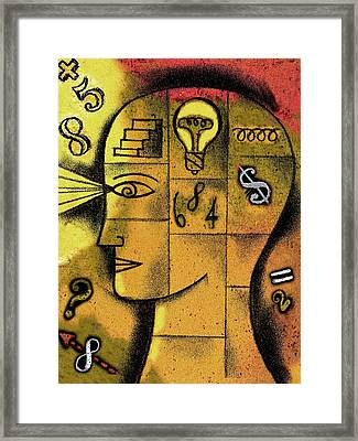 The Concept Of Solution Framed Print by Leon Zernitsky