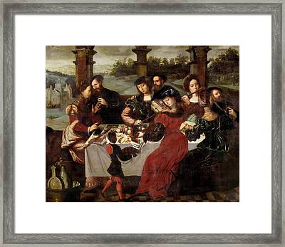 The Concert After The Meal Framed Print by Ambrosius Benson