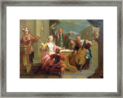 The Concert  Framed Print by Etienne Jeaurat