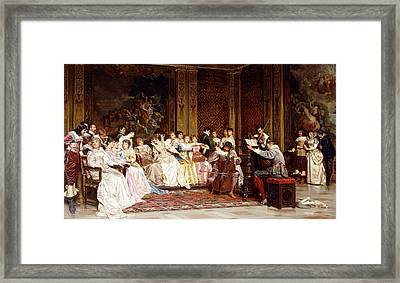The Concert Framed Print by Joseph Frederic Charles Soulacroix