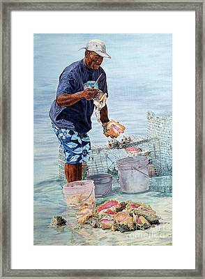 The Conch Man Framed Print
