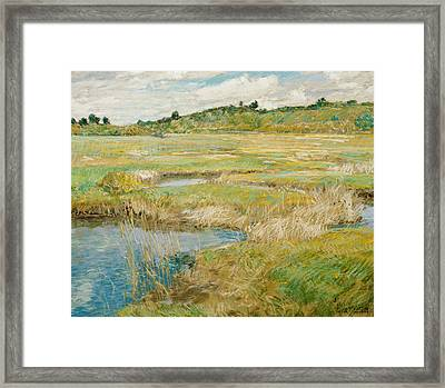 The Concord Meadow Framed Print by Childe Hassam