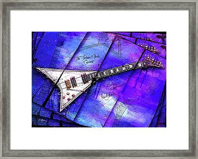 The Concorde On Blue Framed Print by Gary Bodnar