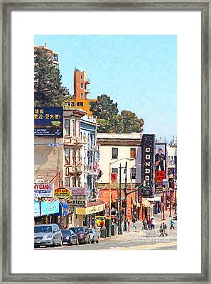 The Condor On Broadway And Columbus Street In San Francisco Framed Print