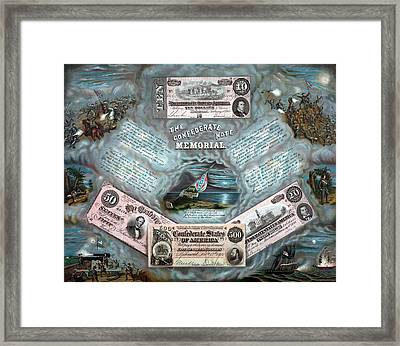 The Confederate Note Memorial  Framed Print by War Is Hell Store