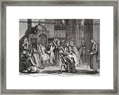 The Confession, After A Dutch Engraving Framed Print by Vintage Design Pics