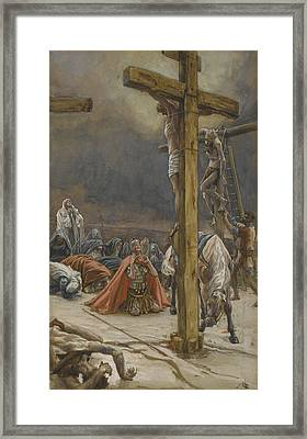 The Confession Of Saint Longinus Framed Print by Tissot