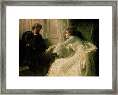 The Confession Framed Print by Sir Frank Dicksee