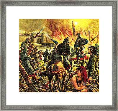 The Conqueror Comes To London Framed Print