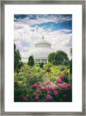 The Conservatory And Gardens Framed Print by Jessica Jenney
