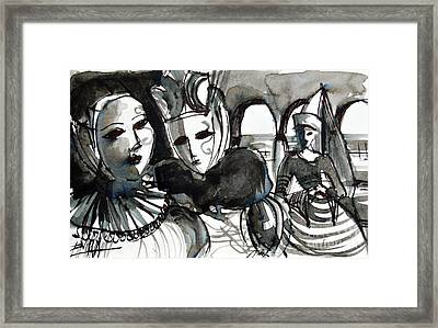 The Conspiracy - Venice Carnival Framed Print by Mona Edulesco