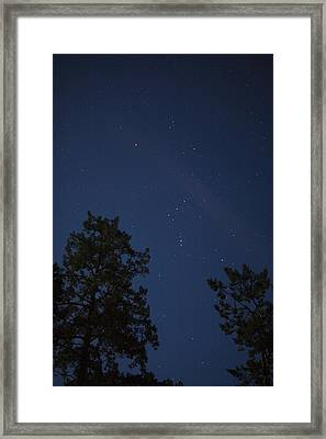The Constellation Orion At Night Framed Print