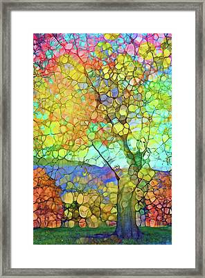 The Contagious Laughter Of Trees Framed Print