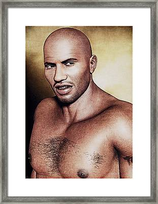 The Contender Framed Print by Maynard Ellis