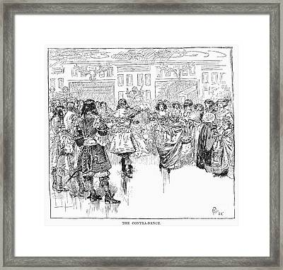 The Contra-dance, 1882 Framed Print