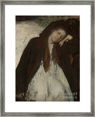The Convalescent By Edgar Degas Framed Print by Esoterica Art Agency