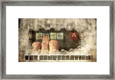 The Conversation Framed Print by Andrea Barbieri