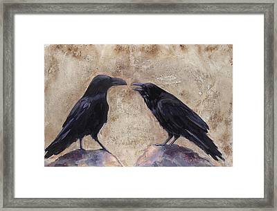 The Conversation Framed Print by Billie Colson