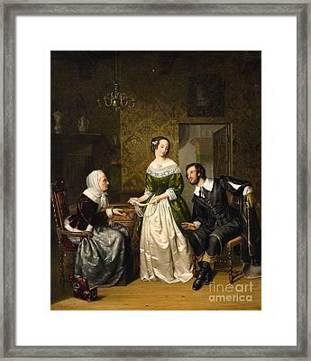 The Conversation Framed Print