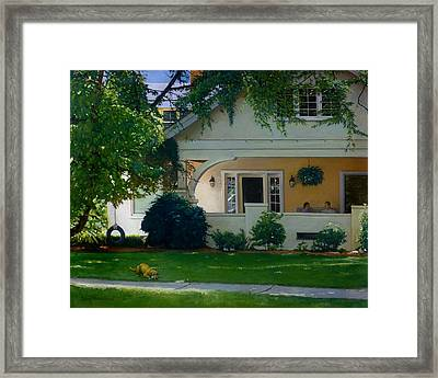 The Conversation Framed Print by Doug Strickland