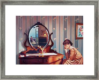 The Conversation Framed Print by Patrick Anthony Pierson