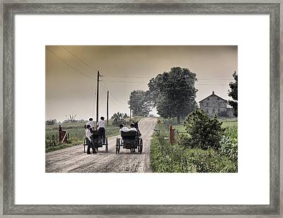 The Conversation Framed Print by Russell Styles