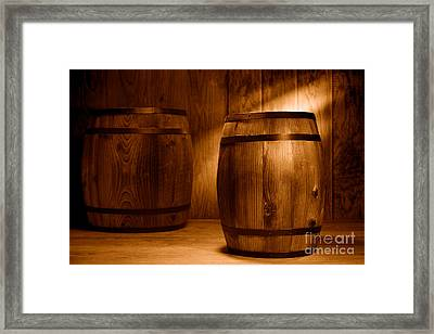 The Coopersmith Shop - Sepia Framed Print by Olivier Le Queinec