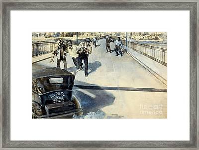 The Cop Who Raided Mexico Circa 1935 El Paso Texas Framed Print by Peter Gumaer Ogden Collection