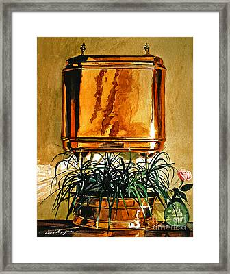 The Copper Lavabo Framed Print by David Lloyd Glover