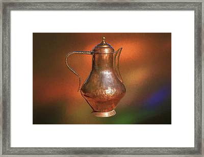 The Copper Pot Framed Print by Donna Kennedy