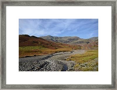 The Coppermine Valley Framed Print by Nichola Denny