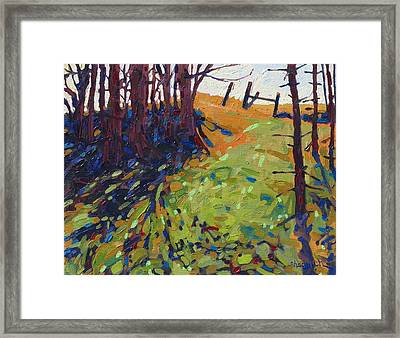 The Copse Framed Print by Phil Chadwick