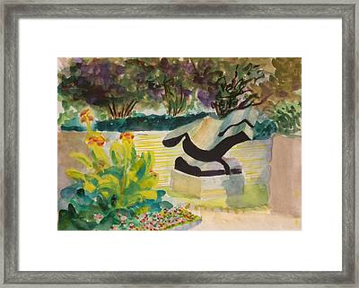 Framed Print featuring the painting The Corinthian Garden by Nicolas Bouteneff