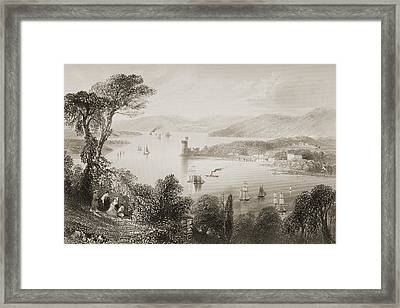 The Cork River,from Below The Glanmire Framed Print by Vintage Design Pics