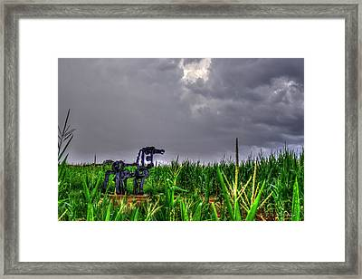 The Corn Is Up The Iron Horse Collection Art Framed Print