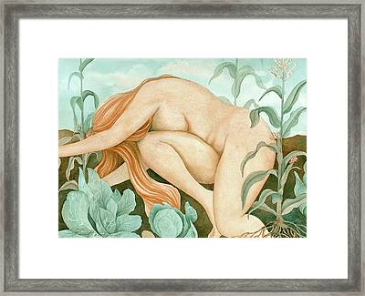 Framed Print featuring the painting The Corn Maiden by Sheri Howe