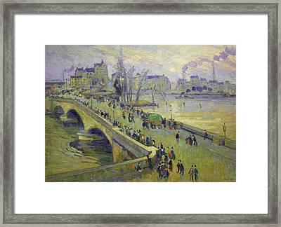 The Corneille Bridge, Rouen Framed Print by Robert Antoine Pinchon
