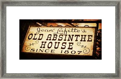 The Corner Bar In New Orleans Framed Print by Toni Abdnour