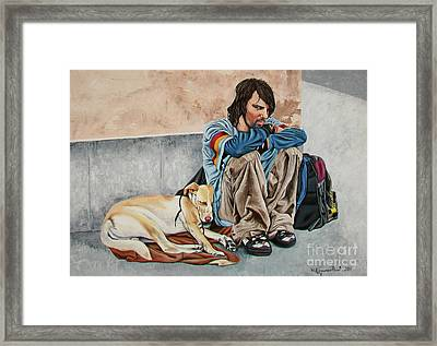 The Corner - La Esquina Framed Print