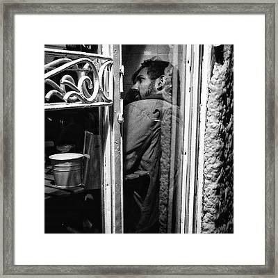 The Corner Man  #portrait #people Framed Print by Rafa Rivas