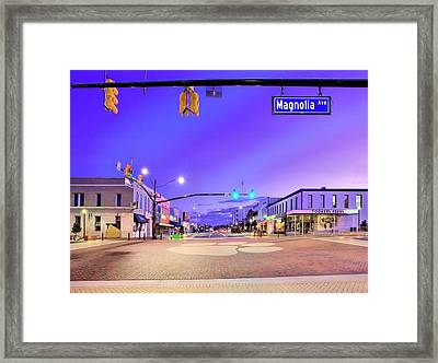The Corner Of College And Magnolia Framed Print by JC Findley