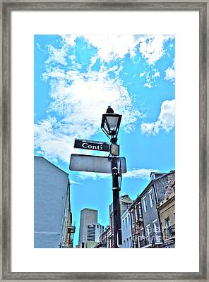 The Corner Of Conti Framed Print
