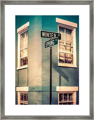 The Corner Of Winter And Spring Framed Print by Jerry Fornarotto