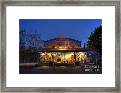 The Corner Store  Framed Print