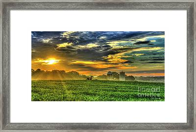 The Cornfield Dawn The Iron Horse Collection Art  Framed Print